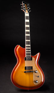 Eastwood Guitars Rivolta Combinata Autunno Burst Angled