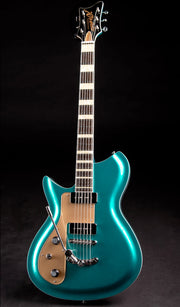 Eastwood Guitars Rivolta Combinata DLX Adriatic Blue Metallic LH Full Front