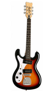 Eastwood Guitars Hi Flyer Phase 4 Sunburst LH Angled