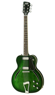 Eastwood Guitars Messenger Trans Green Angled