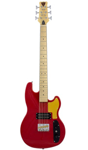 Eastwood Guitars Hooky Bass 6 PRO Red Full Front
