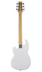 Eastwood Guitars Hooky Bass 6 PRO White Full Back