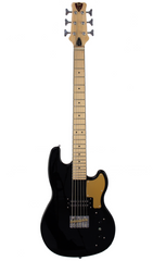 Eastwood Guitars Hooky Bass 6 PRO Black Full Front