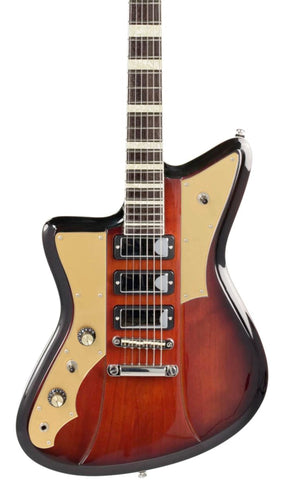 Eastwood Guitars Rivolta Mondata LH Fuoco Burst Featured