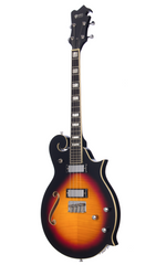 Eastwood Guitars MRG Tenor Sunburst Angled