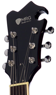 Eastwood Guitars MRG Resonator Sunburst Headstock