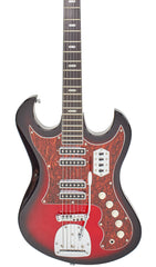 Eastwood Guitars SD40 HoundDog Redburst