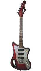 Eastwood Guitars Eastwood T-60 GC - Deposit Dark Cherry Angled