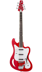 Eastwood Guitars TB64 Fiesta Red Full Front