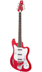 Eastwood Guitars TB64 Fiesta Red Angled