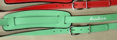 Eastwood Guitars Airline Vintage Style Guitar Strap Seafoam Green Angled