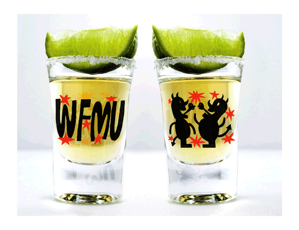WFMU Shot Glass