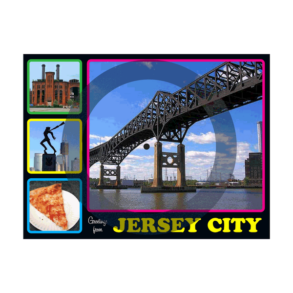 """Greetings from Jersey City"" Postcard Flexi"