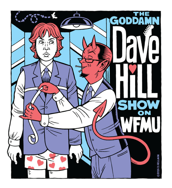 The Goddamn Dave Hill's Show 2014 Red Devil T-shirt