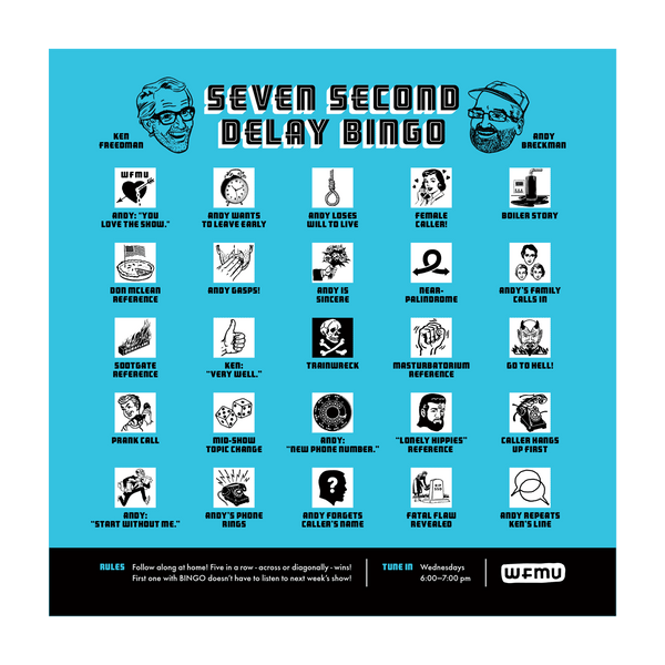 Seven Second Delay Bingo Cards