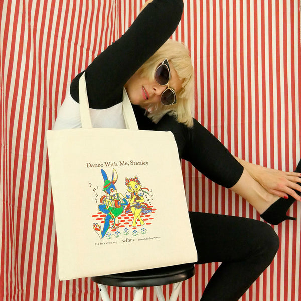 "DJ Stashu's ""Dance with Me, Stanley"" Tote Bag"