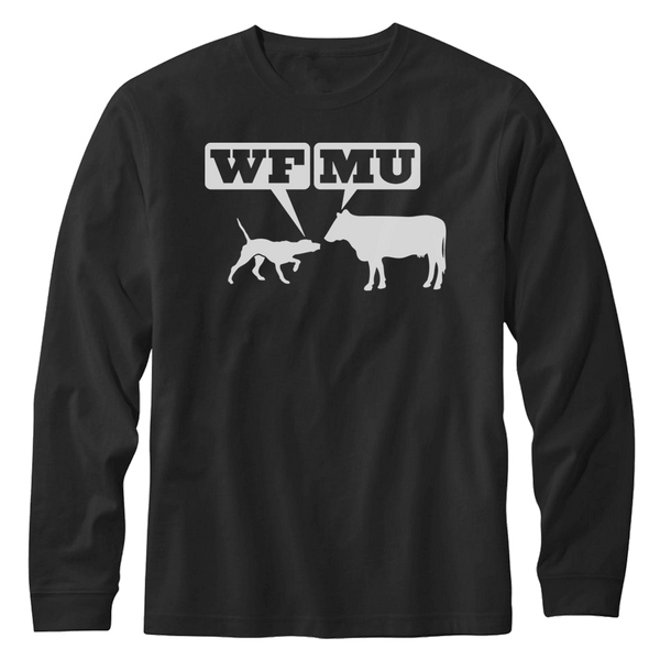 LIMITED EDITION! Woof Moo Long Sleeve Shirt - Only 1 Small left!