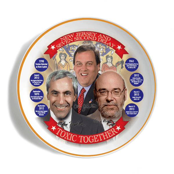 Seven Second Delay's Chris Christie Commemorative Plate