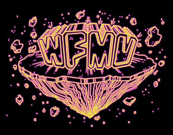WFMU Space Chunx T-Shirt - Yellow and Pink