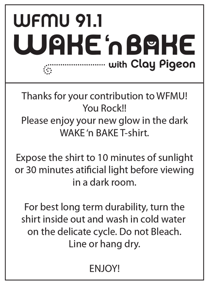 Wake 'n Bake Glow-in-the-Dark T-Shirt