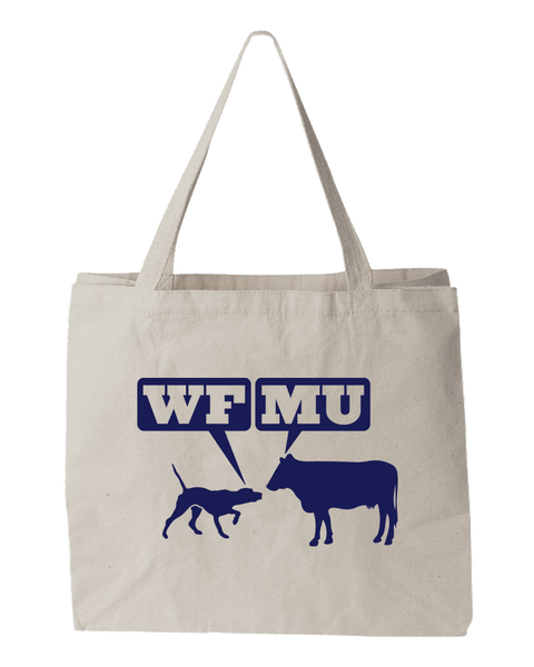 Woof-Moo Tote Bag - We Just Got a Dozen More!