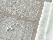 Jacquard - Amour - Blanc & Or