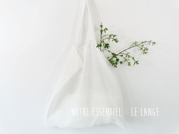Nos essentiels : Le lange double gaze uni blanc