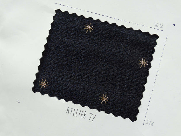 Jacquard - Constellation - Marine et Or
