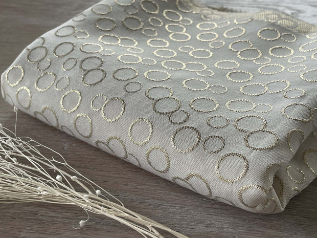 Jacquard - Juliette - Blanc & Or