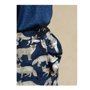 Jacquard Crazy fox - Marine & Or