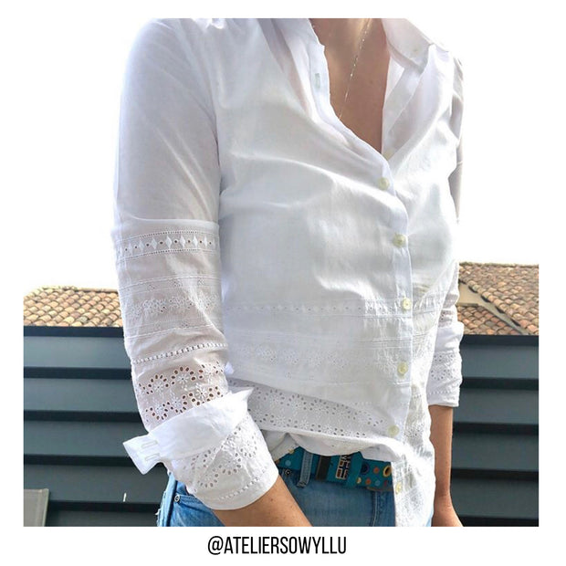 Broderie anglaise - Palerme - Blanc
