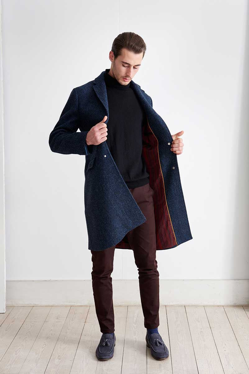 Coat in Harris Tweed fabric