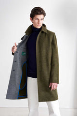 Coat in fleecy loden fabric