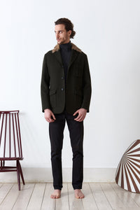 Loden jacket doubled in loden fabric