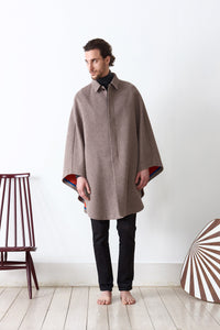 Cape in loden fabric dubled in loden fabric