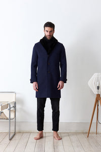 Classic coat in loden fabric
