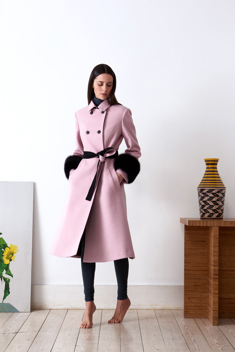 Double breasted coat in loden fabric 28b5bf2e22d
