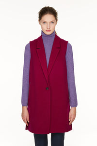 One-button loden gilet.