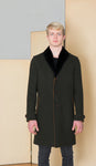 3 buttons Coat in 100% extra-fine merino wool.