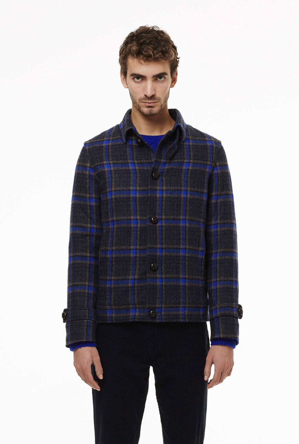 Bomber in check fabric.