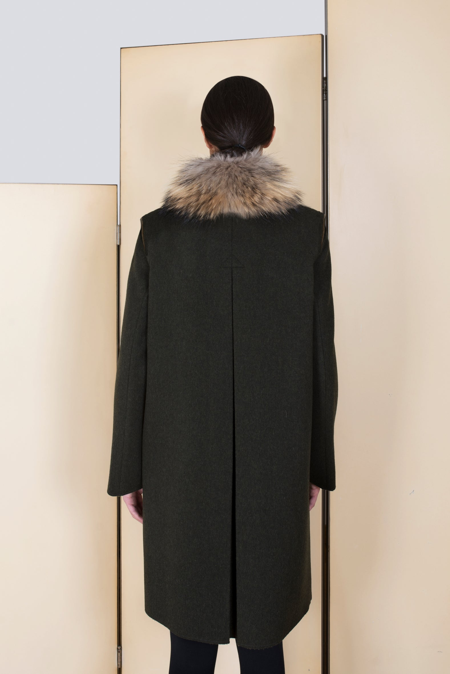 Classic Loden Coat in 100% extra-fine merino wool.