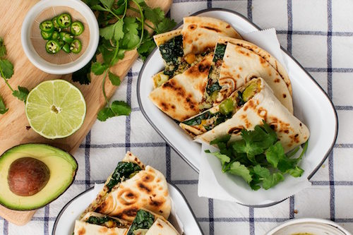 QUIONA & KALE QUESADILLAS BY LOVE & LEMONS