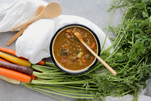 Easy Vegan Lentil Soup.