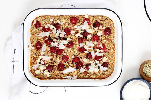 Almond Baked Oatmeal.