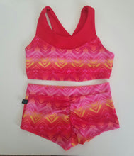 pink chevron booty boy short for pole dance, raves, hot yoga, swim, and festivals