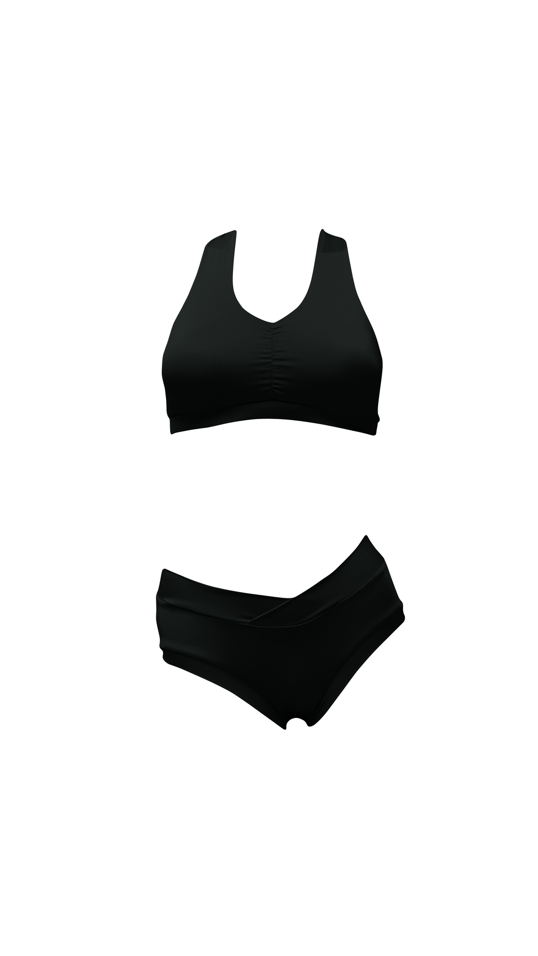 Extra Small Black Twisty Sports Bra - FINAL SALE