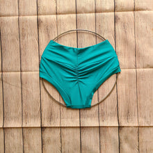 Extra Small Dreamy Ocean Blue High Waist Shorts - FINAL SALE