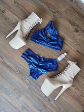 Extra Small Metallic Blue Low Rise Shorts - FINAL SALE
