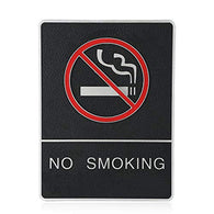 No Smoking Sign with Symble Braille Sign 6x8 with Double Sided 3M Tape Long Lasting by Sigo Signs