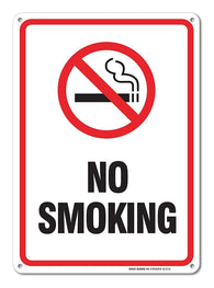 No Smoking Sign, Smoking Sign Legend 10 X 7 Rust Free 0.40 Aluminum Sign USA Made Of Rust Free Aluminum-UV Printed With Professional Graphics-Easy To Mount - Sigo Signs